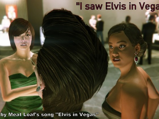 I saw Elvis in Vegas...