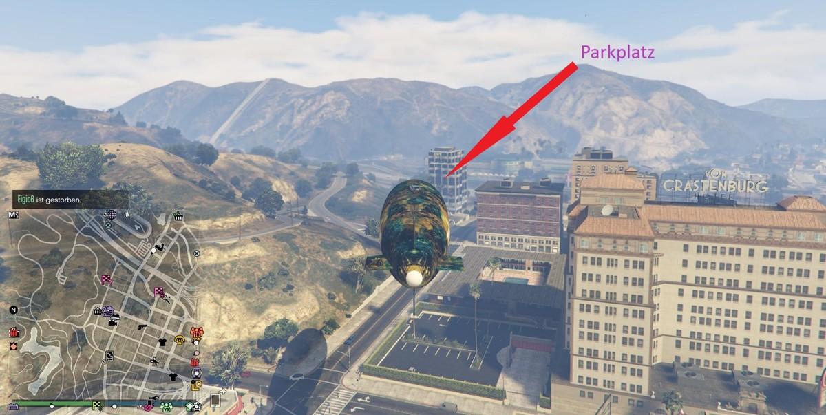Neuer Parkplatz für Fahrzeuge
