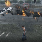Fliegendes Unfallopfer