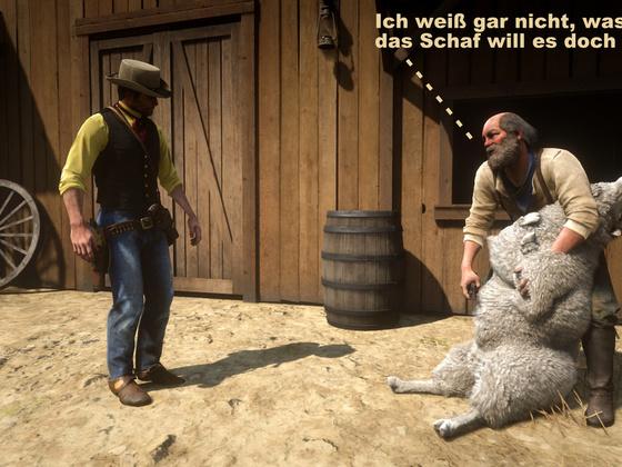 Neulich auf der Ranch oder: Die Intimrasur