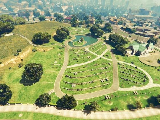 Friedhof von oben