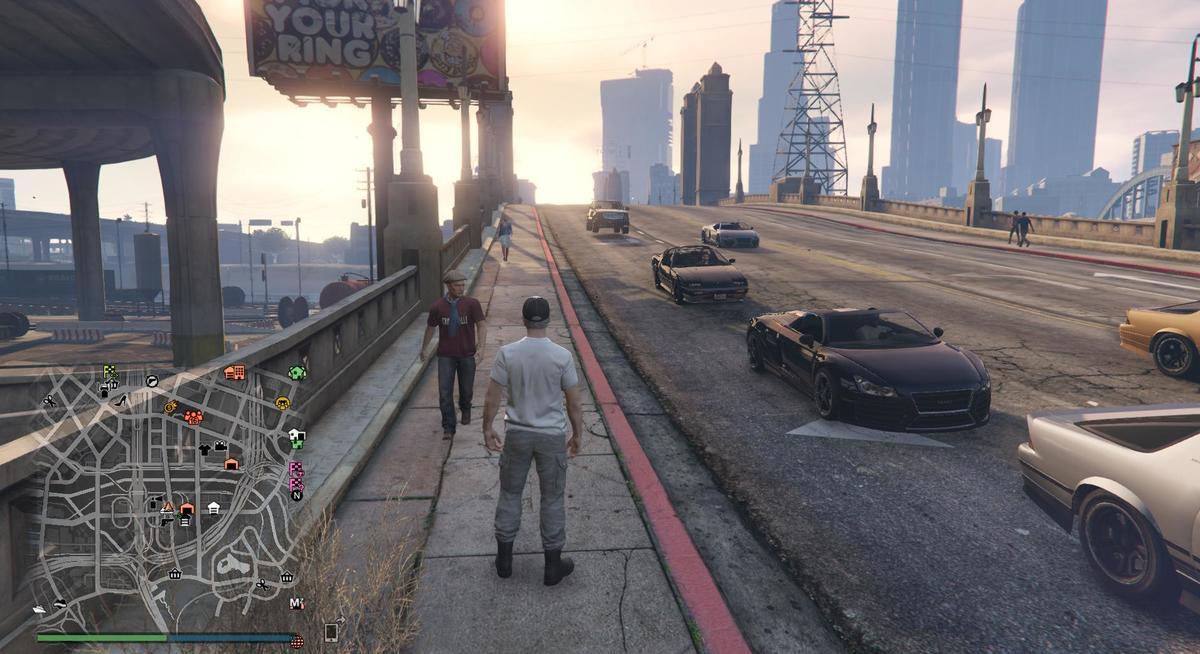 Jetzt fangen die Autos an zu Springen